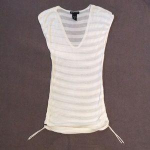 White New York & Company Shirt